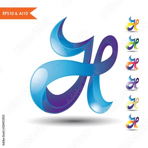 3D letter H logo...H Logo 3d