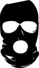 silhouette criminal mask