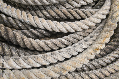 Tackle ropes heavy duty rope close up cluster of rope for Heavy rope for nautical use