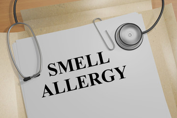 Smell Allergy - medical concept