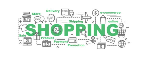 shopping vector banner