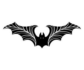 bat silhouette with stylized wings