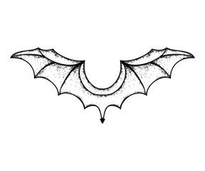 grunge bat wings