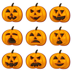 A vector illustration of pumpkin Icons set