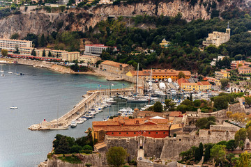 Nice, France: panoramic top view of Port