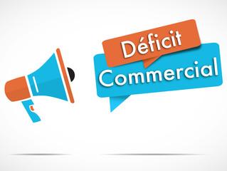 mégaphone : déficit commercial