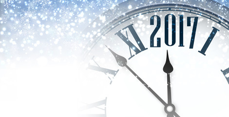 2017 winter banner with clock.