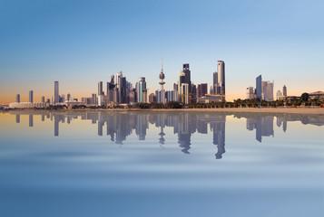 Kuwait City landscape on a calm day