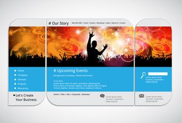 Website design template, vector