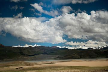 Valley of Brahmaputra river Himalayas Tibet