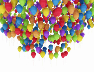 Balloons Multi Color isolated on white background