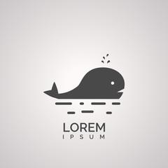 whale icon design