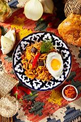 Noodles with Laghman Sauce