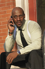 Portrait of Businessman Speaking on the Phone