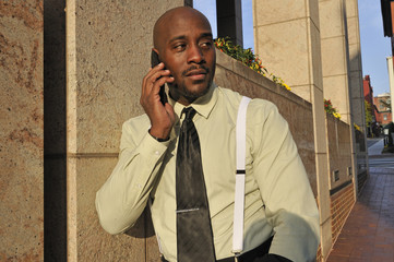 African American Businessman Speaking on the Phone