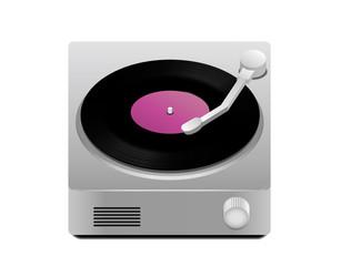 Turntable with vinyl LP