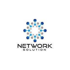 Network logo design vector