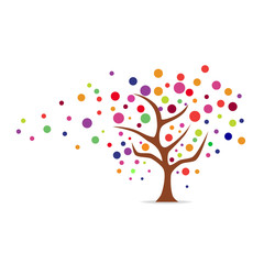 Abstract tree icon. Vector illustration.