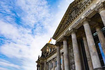 The German Reichstag in Berlin.