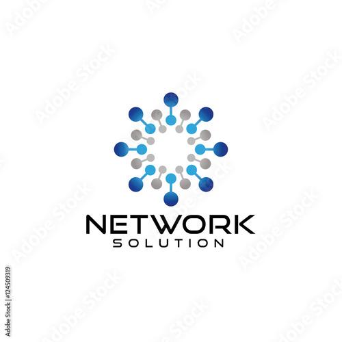 u0026quot network logo design vector u0026quot  stock image and royalty