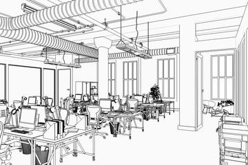 Bürofläche (Skizze)