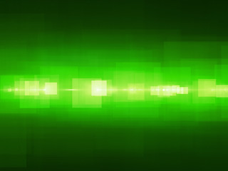 Green glowing rectangles fractal