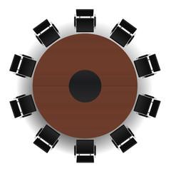Salle de réunion - Table ronde