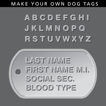 Make your own message on this dog tag
