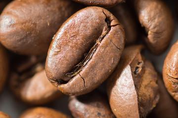 Coffee beans Arabica beans closeup