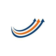 arrow up growing icon design logo