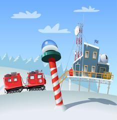 Polar research station