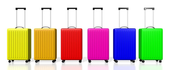 3D colorful suitcases - great for topics like traveling etc.