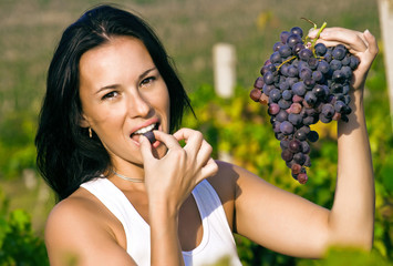 Woman What Lovely Grapes
