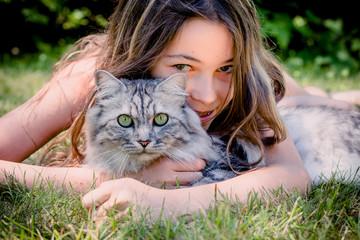 Fillette et chat, une histoire d'amitié