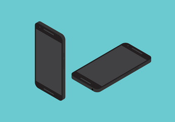 Schwarzes Smartphone-Illustrationen