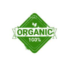 Eco Friendly Organic Natural Product Web Icon Green Logo Flat Vector Illustration