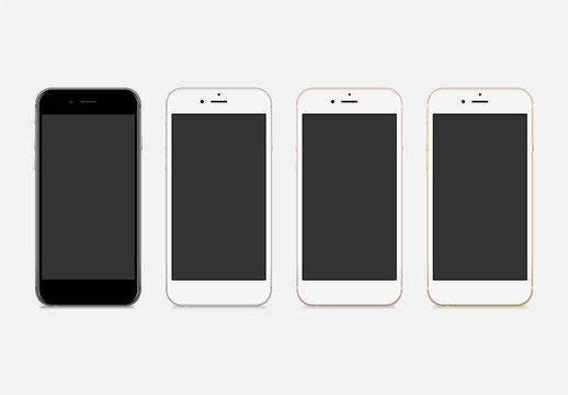 Maquettes vectorielles Téléphone portable