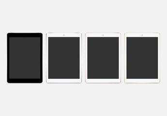 Maquetas vectoriales de tableta