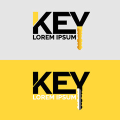 The inscription Key, modern logo and emblem.