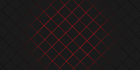 Wall Mural - black and red squares modern background illustration