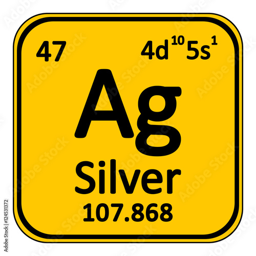 Periodic Table Element Silver Icon Stock Image And Royalty Free