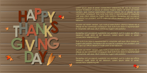 Abstract of Happy Thanksgiving Day. Vector background. Illustration, EPS 10.
