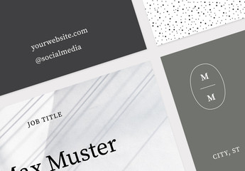 Minimal Business Cards Set