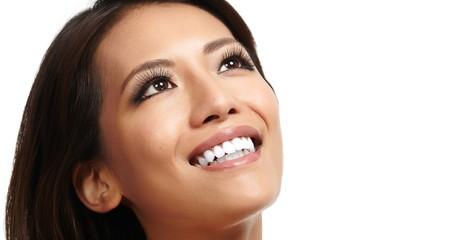 Beautiful asian girl face.