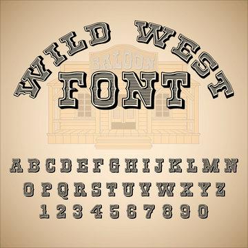 Vintage font, ABC, alphabet