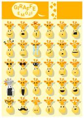 Giraffe emoji icons , vector , illustration