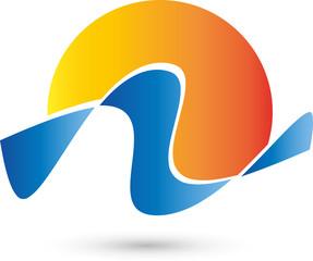 Sonne, Wellen, Wasser, Logo