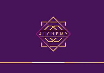 Development of a linear gradient logo on alchemy