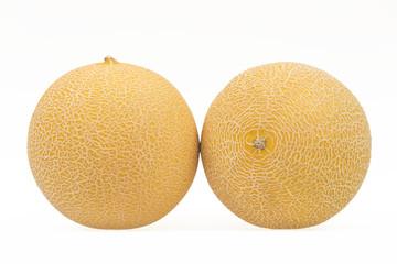 Galia Melon (Isolated on White)