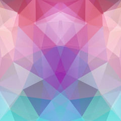 Abstract background consisting of triangles. Geometric design for business presentations or web template banner flyer. Vector illustration. Pink, blue, purple colors
